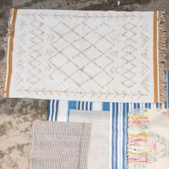 Two Tone Cotton Tufted Rug