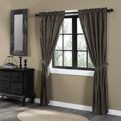 Country Check Long Panel Curtain Set of 2