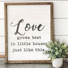 Framed Love Inspirational Farmhouse Sign