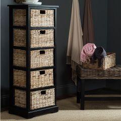 Shelf With Wicker Drawers