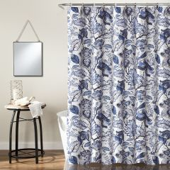 French Country Floral Pattern Shower Curtain