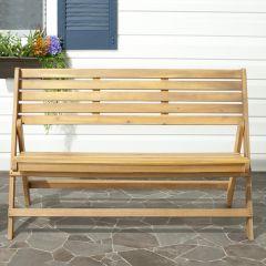 Acacia Wood Folding Bench
