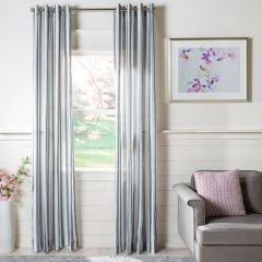 Contemporary Farmhouse Striped Curtain Panel Set of 2
