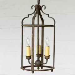 Rustic Finish 3 Bulb Pendant Light
