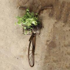 Iron Bike Wall Decor With Basket