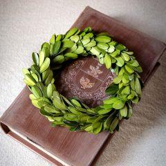 Mini All Natural Boxwood Wreath Set of 6
