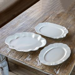 Simple Serving Platter Collection Set of 3