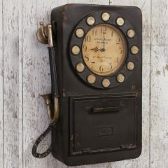 Rotary Phone Wall Clock With Hidden Storage Compartment