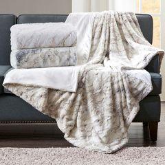Faux Fur Oversized Throw Blanket