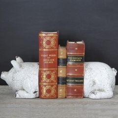 Pig Bookends | Decorative Bookends | Animal Bookends