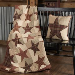 Country Star Quilted Throw Blanket