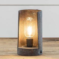 Aged LED Tabletop Scoop Lantern