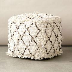 Cotton Wedding Quilt Pouf