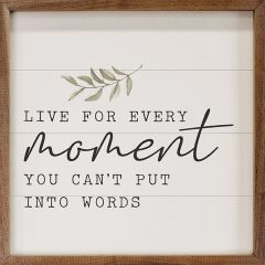 Live For Every Moment Greenery Wall Art