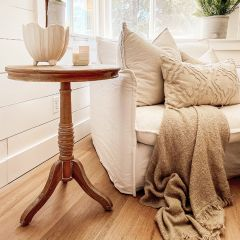 Vintage Style Round Accent Table