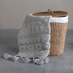 Cotton Tufted Tassels Rug