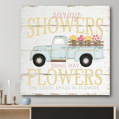 Spring Showers Truck Canvas Art