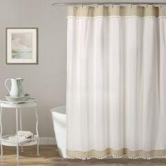 Pretty Pom Pom Shower Curtain