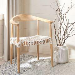 Blonde Wood Arm Chair
