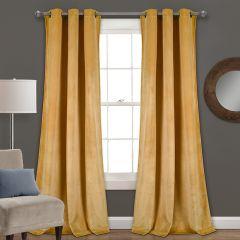 Prima Velvet Room Darkening Curtain Panel Set of 2
