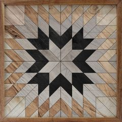Wooden Star Pattern Wall Art