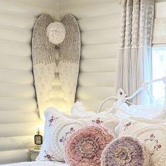 Wooden Angel Wings Wall Art