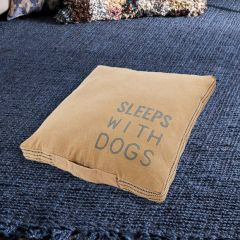 Washed Canvas Dog Bed Pillow
