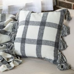 Hand Woven Patterned Accent Pillow