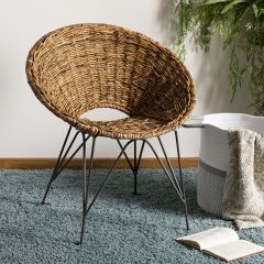 Rattan Contemporary Accent Chair
