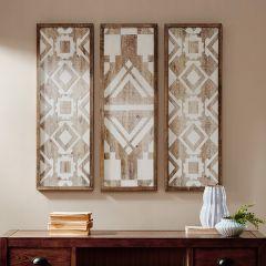 3 Panel Printed Wood Wall Decor
