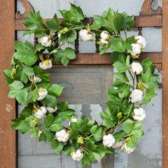Cotton Greenery Wreath
