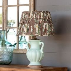 Table Lamp With Pleated Floral Shade
