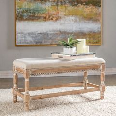 Simple Cushion Top Wood Bench