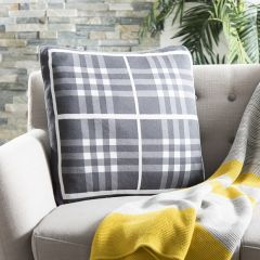 Classic Gingham Knit Pillow