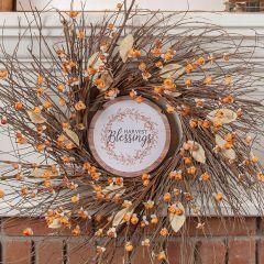 Harvest Blessings Hanging Autumn Ornament Set of 6
