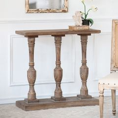 Turned Wood Console Table