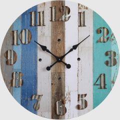 Beach Inspired Round Wall Clock