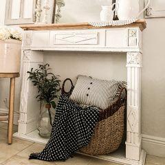 Ornate Wood Fireplace Wall Mantel