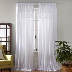 Macrame Tassel Semi Sheer Curtain Panel Set of 2 52x95