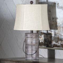Galvanized Metal Farm Pail Table Lamp