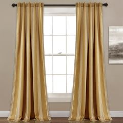 Taupe Room Darkening Curtain Panel Set of 2