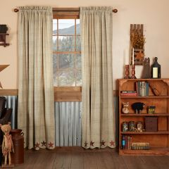 Country Star Curtain Panels Set of 2