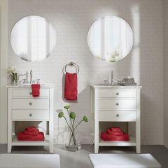 8 Piece Cotton Towel Set Red