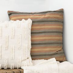 Square Striped Accent Pillow