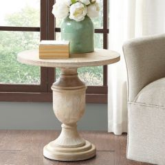 Simple Cottage Round Accent Table
