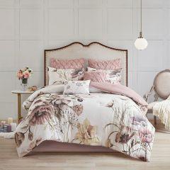 8 Piece Chic Blush Floral Print Comforter Set