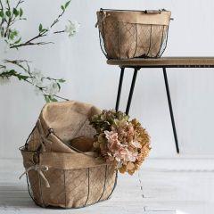 Lined Nesting Baskets Set of 3