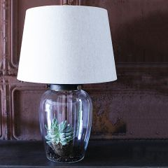 Fillable Lamp Base With Shade