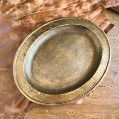 Distressed Metal Oval Candle Tray