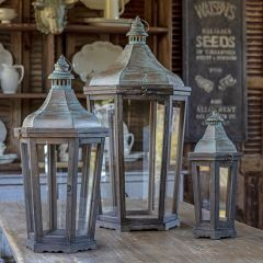 French Quarter Candle Lantern Collection Set of 3